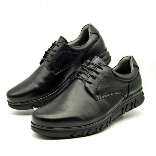 Zapatos cómodos negros TROSSMAN 360 Confort Plus